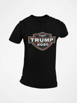 Trump Bikers Harley Logo Black