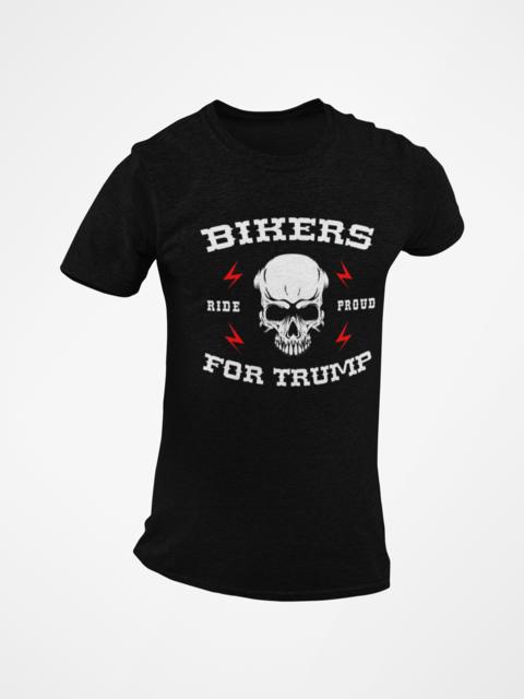 Biker's For Trump Skull Black