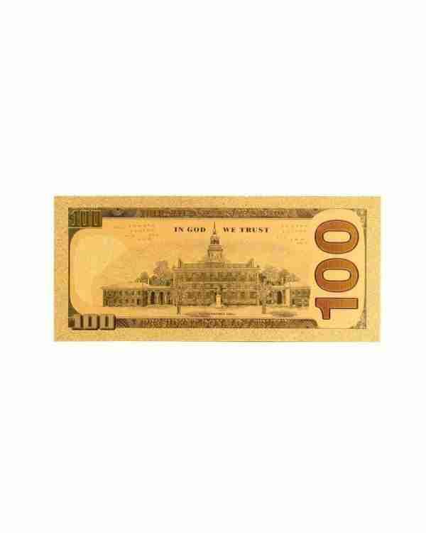Trump 100 Dollar Bill Rear