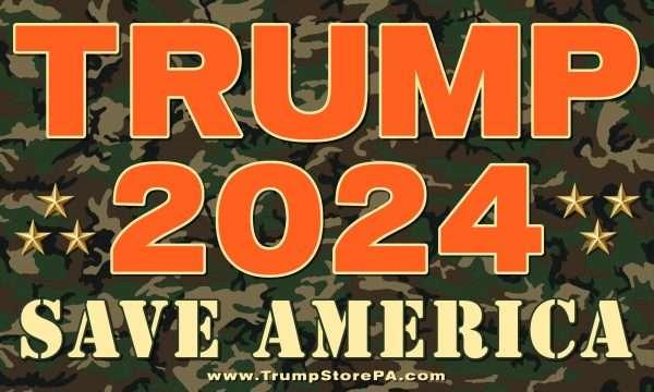 Trump 2024 Camo Flag
