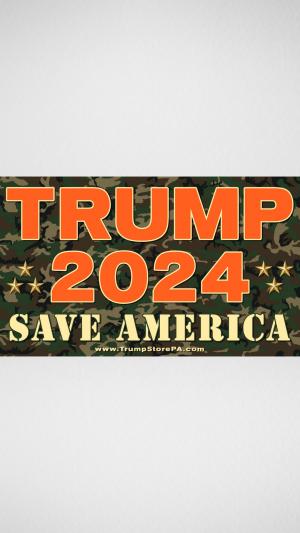 Trump 2024 Camo Flaga
