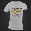 Trump 45 Tee Grey