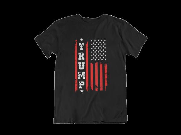 Trump USA Flag Black