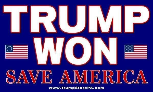 Trump Won Flag 2